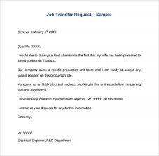 Request Sample Letters Sample Letter Request Departmental Transfer Tripevent Co
