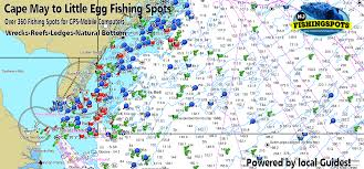 Fishing Charts Mapping Gps Coordinates Cape May New Jersey Gps Fishing Spots For Offshore Fishing