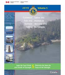 Townsend Inlet Tide Chart Canadian Tide And Current Tables Volume 5 Juan De Fuca Strait And Strait Of Georgia 2019 Edition
