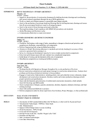 Intern Architect Resume Samples | Velvet Jobs