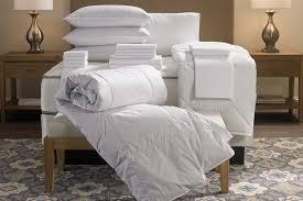 hotel stripe bed bedding set