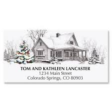 Christmas Address Labels Santa Snowflake Current Catalog
