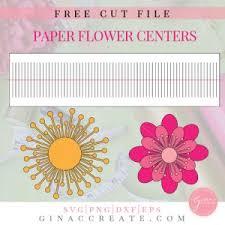 Paper Flower Petal Template Free Paper Flower Template Printable Cut File Gina C Creates