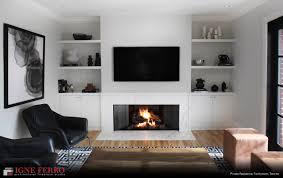 Modern Gas Fireplace in Toronto