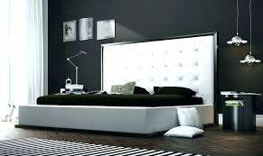 Black Modern Bedroom Furniture Sets In Contemporary Set And White ...