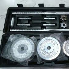 york weight set. new 50kg york chrome barbell and dumbbell set york weight