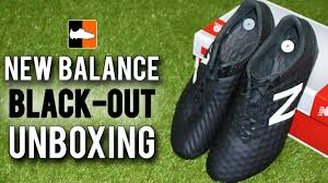 new balance football boots. new balance black-out football boot unboxing - #nbblackoutsquad youtube boots