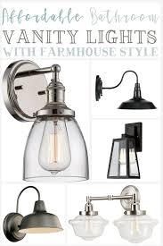 farmhouse vanity lights. Here Are Some Affordable Bathroom Vanity Lights That Will Add Farmhouse Style To Any Bathroom.