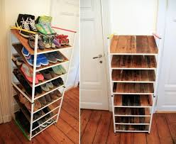 space saving diy shoe racks