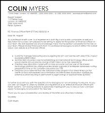 finance officer cover letter sample finance cover letter samples