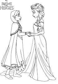 Coloriage Princesse Reine Des Neiges Imprimer