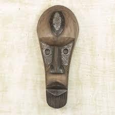 hausa wood african mask beautiful woman