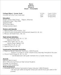 Scholarship Resume Template A Good Resume Template Scholarship