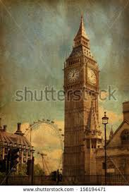 big view photography. Big Ben, London, UK. View From Abingdon Street. Added Paper Texture Photography N