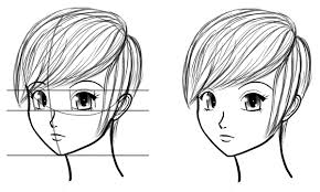 anime head tutorial drawing heads at three quarter angles