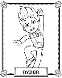 Small Picture Ryder PAW Patrol Coloring Pages Printable Get Coloring Pages