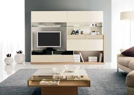 modern furniture design for living room. Ultra Modern Furniture Living Room Intreior With Beige Wall Unit Also TV Screen And Two Pots Design For
