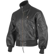 classic bw german army style leather mens flight