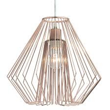 needle copper easy fit pendant light shade nee6564