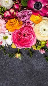 Colorful flowers, pink, yellow, white ...