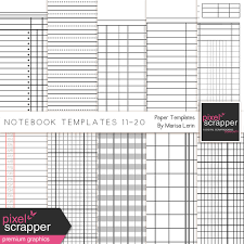 Notebook Templates Notebook Paper Templates 11 20 Kit By Marisa Lerin Graphics