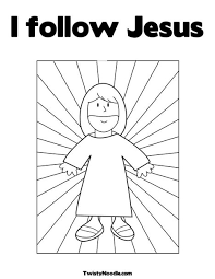 Small Picture I follow Jesus Coloring Page from TwistyNoodlecom apparently you