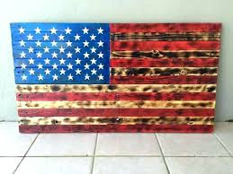 metal american flag wall art wood and rustic pallet crafts patriotic uttermost