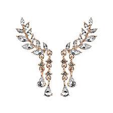 Women's Crystal Gorgeous Chandelier Teardrop Fashion <b>Pierced</b> ...