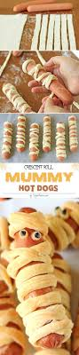 Crescent Roll Mummy Hot Dogs