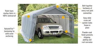 Features For FREE SHIPPING U2014 ShelterLogic 12FtW Peak Style Garageina  Northern Tool