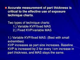 Fixed Kvp Technique Chart Ppt Radiography Technique Exposure Factors Powerpoint