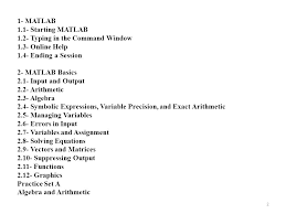 programming for nuclear engineers lecture matlab ppt 1 starting matlab 1 2 typing in the