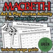 best macbeth review ideas the macbeth macbeth  macbeth review activity game group work quiz bell ringer