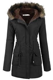 Womens Hooded Warm Winter Faux Fur Lined Parkas Long Coats HFON