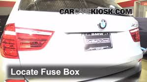 replace a fuse 2011 2016 bmw x3 2011 bmw x3 xdrive28i 3 0l 6 cyl 2014 bmw x3 fuse chart at Bmw X3 Fuse Box