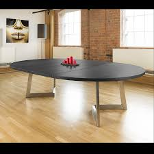 massive 180 280cm extending luxury round oval dining table oak black