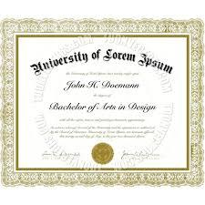 Phd Degree Certificate Template Printable Blank Brochure