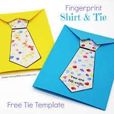 Our library of beautifully designed cards include over 200 father's day card templates in various styles and themes, so you have a lot of options to choose from. Father S Day Tie Card With Free Printable Tie Template Messy Little Monster