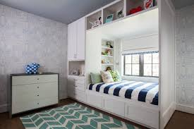 gautier kids furniture. Bright Bedroom Ideas And Blue White Wallpaper Plus Gautier Kids Furniture Also Roman Shades Dresser Herringbone Rug For Transitional