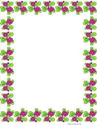 Flower Border Designs For Paper Paper Borders Design Paper Word Autumn Template Clip Art Paper