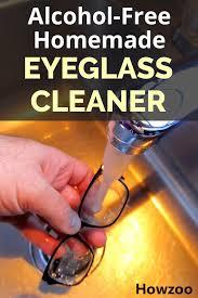 alcohol free homemade eyeglass cleaner