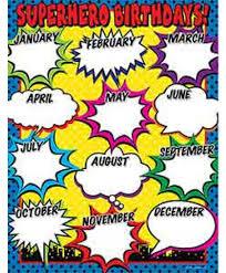 Birthday Charts Charts Classroom Decoratives Educators