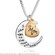 jewelry i love you to the moon and back mom pendant necklace mother day gift whole fashion jewelry