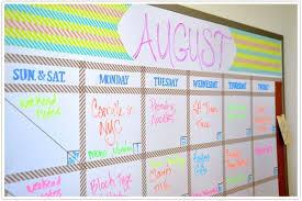 Transformed A Dry Erase Board Dry Erase Calendar Diy