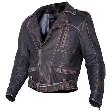 tuzo sportster classic retro cruiser motorcycle motorbike leather jacket black