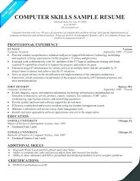 Technology Skills On Resumes Technical Skills To List On Resume Blaisewashere Com