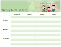 Diet Chart Planner Meal Diabetic Planning Weekly For Weight