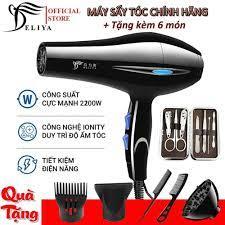 Máy sấy tóc Deliya 8032 công suất 2200W với 3 chế độ sấy nóng, vừa, mát  giúp bạn lựa chọn tùy thích không lo tóc hư tổn [ TẶNG 5 PHỤ KIỆN