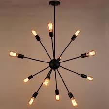 sputnik chandelier naturous  lights pendant lighting painted