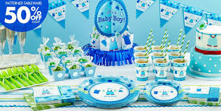 It's a Boy Baby Shower Party Supplies  50% off Patterned Tableware ...